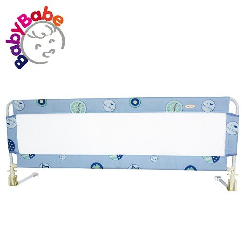 【BabyBabe】床邊護欄 63x160cm/愛床圈圈藍