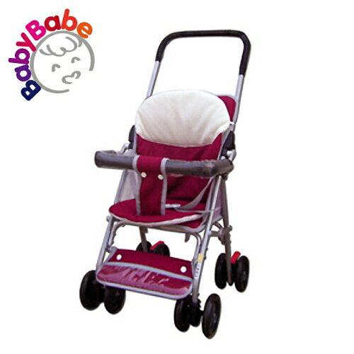 【BabyBabe】輕便型附睡墊手推車/紅