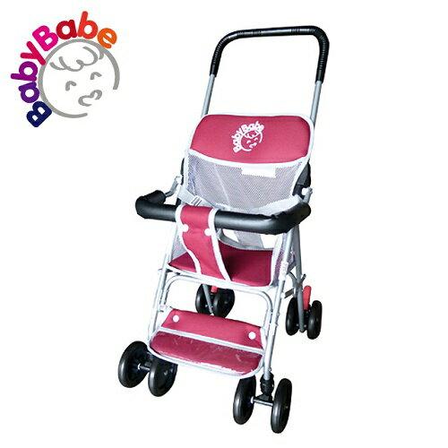 【BabyBabe】輕便型手推車/紅