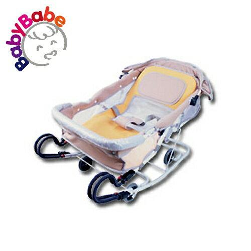 【BabyBabe】雙管加寬分段彈搖椅/卡其