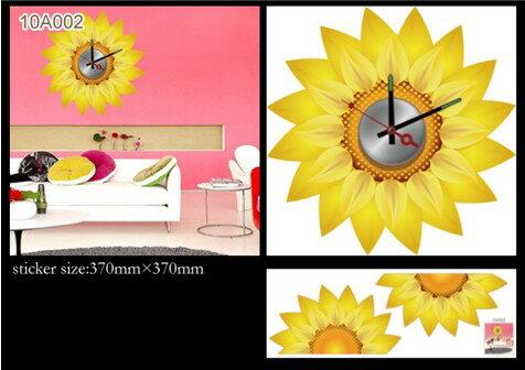[日本Wall-Deco] 創意壁紙時鐘-向日葵
