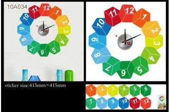 [日本Wall-Deco] 創意壁紙時鐘-調色盤