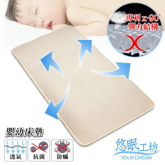 【悠眠工坊】3D蜂巢立體透氣透氣涼爽床墊(嬰幼款/65X120厚1.5CM)(3D-BABY02)