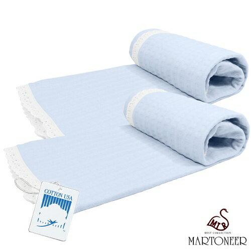 《MARTONEER》美國棉和風夏情(第三代)枕巾(一組二入)/淺紫