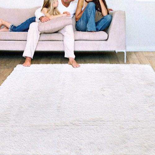 進口Bonnie類兔絨長毛毯-白色(140x200cm)