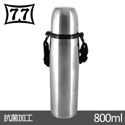 【日本77】Actiue junior真空不鏽鋼保溫魔法瓶800CC(附黑色背帶) - 限時優惠好康折扣