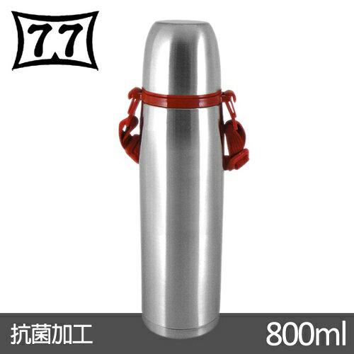 【日本77】Actiue junior真空不鏽鋼保溫魔法瓶800CC(附紅色背帶) - 限時優惠好康折扣