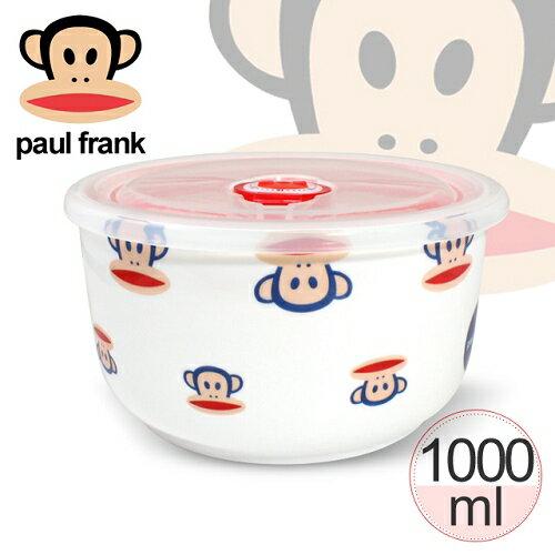 【paul frank】大嘴猴直型陶瓷微波保鮮碗1000ml-大頭款