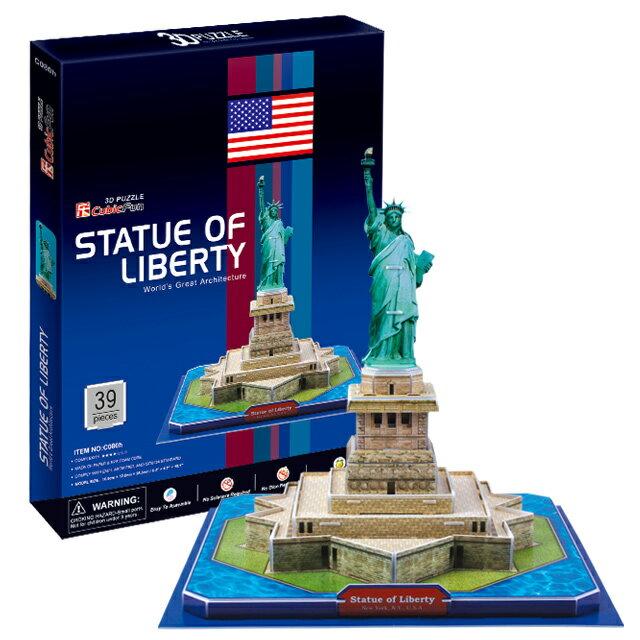 【3D Puzzle】世界建築精裝版-美國自由女神像(C080H)