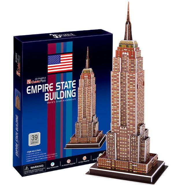 【3D Puzzle】世界建築精裝版-美國紐約帝國大廈