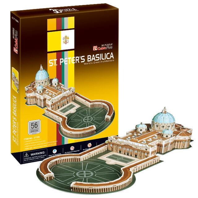 【3D Puzzle】世界建築精裝版-梵諦岡聖彼得大教堂