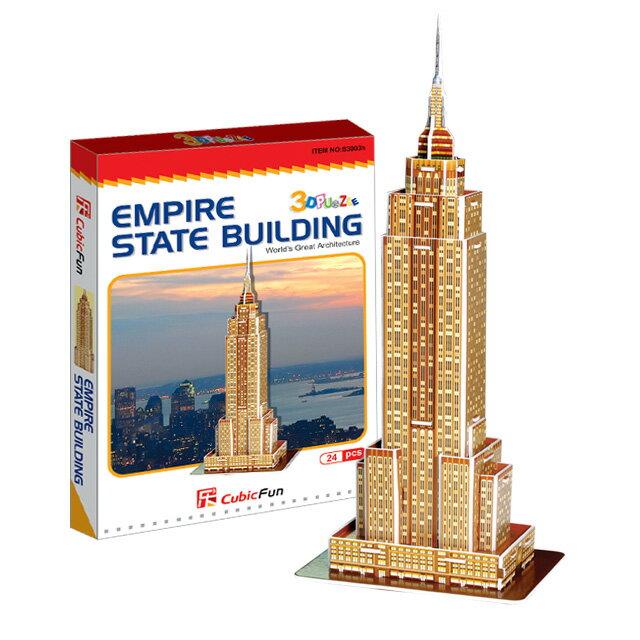 【3D Puzzle】迷你建築系列-迷你美國帝國大廈