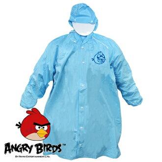 [Waterproof] 憤怒鳥全開式PVC兒童雨衣(水藍)(221752BL)