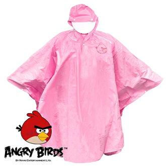 [Waterproof] 憤怒鳥PVC斗篷雨衣(粉紅)(221769PK)