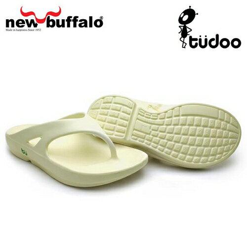 【new buffalo】土豆星球tudoo動態平衡人字拖-懷特號/白