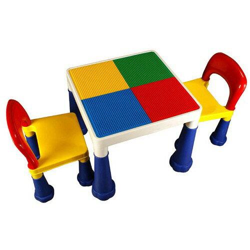 【BabyBabe】大象腳積木桌椅組