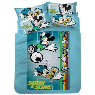 《迪士尼 米奇-世紀運動杯》 單人三件式被單床包組 A0479_M-1
