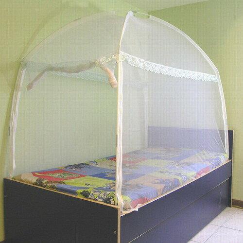 〔威克爾〕三門蒙古包式蚊帳/3.5X6.2單人床 ^(A0553_M04^)