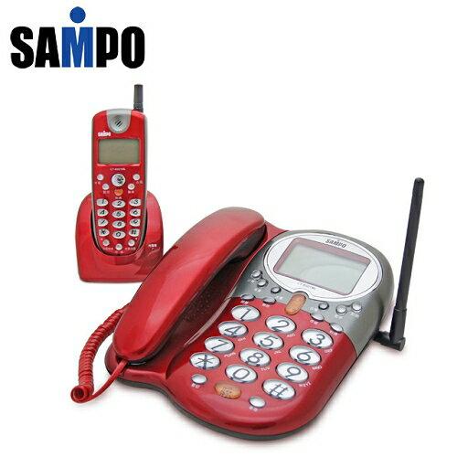 【SAMPO聲寶】來電顯示無線子母電話-紅色CT-B901ML_R