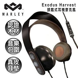 ★送托特包★Marley Exodus Harvest 頭戴式耳機麥克風(木製/三鍵式)(EAR-MAR-FH003HA)