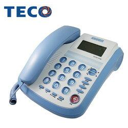 【TECO東元】來電顯示有線電話-鮮藍 XC0513CB