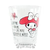 美樂蒂My Melody周邊商品推薦到〔小禮堂〕美樂蒂 日製塑膠杯《透明.手繪風.愛心.站姿.270ml》