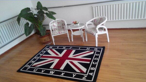 幸福家居商城:寰宇歐洲風日不落風格英國國旗140*200CM高級手工晴綸地毯地墊可訂做CP20005