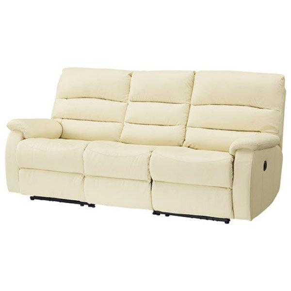 ◎(OUTLET)全皮3人用頂級電動可躺式沙發 BELIEVER IV 福利品 NITORI宜得利家居 2