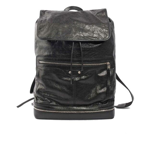 【BALENCIAGA】羊皮男款後背包(大款)(黑)340138DF9941000