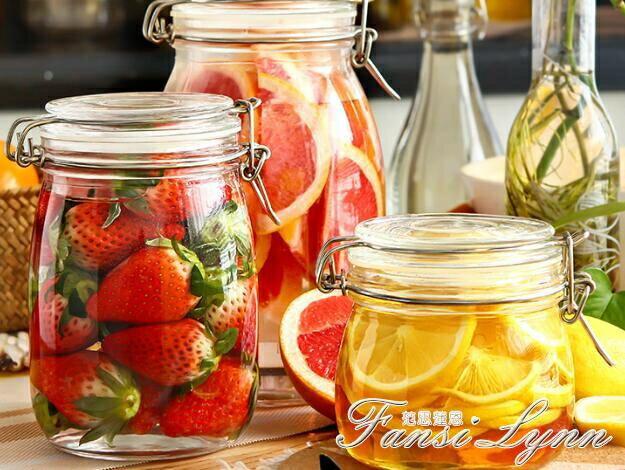【快速出貨】喜碧密封食品級玻璃瓶子檸檬蜂蜜密封罐家用腌制帶蓋儲物泡菜壇子 全館免運 七色堇 新年春節送禮