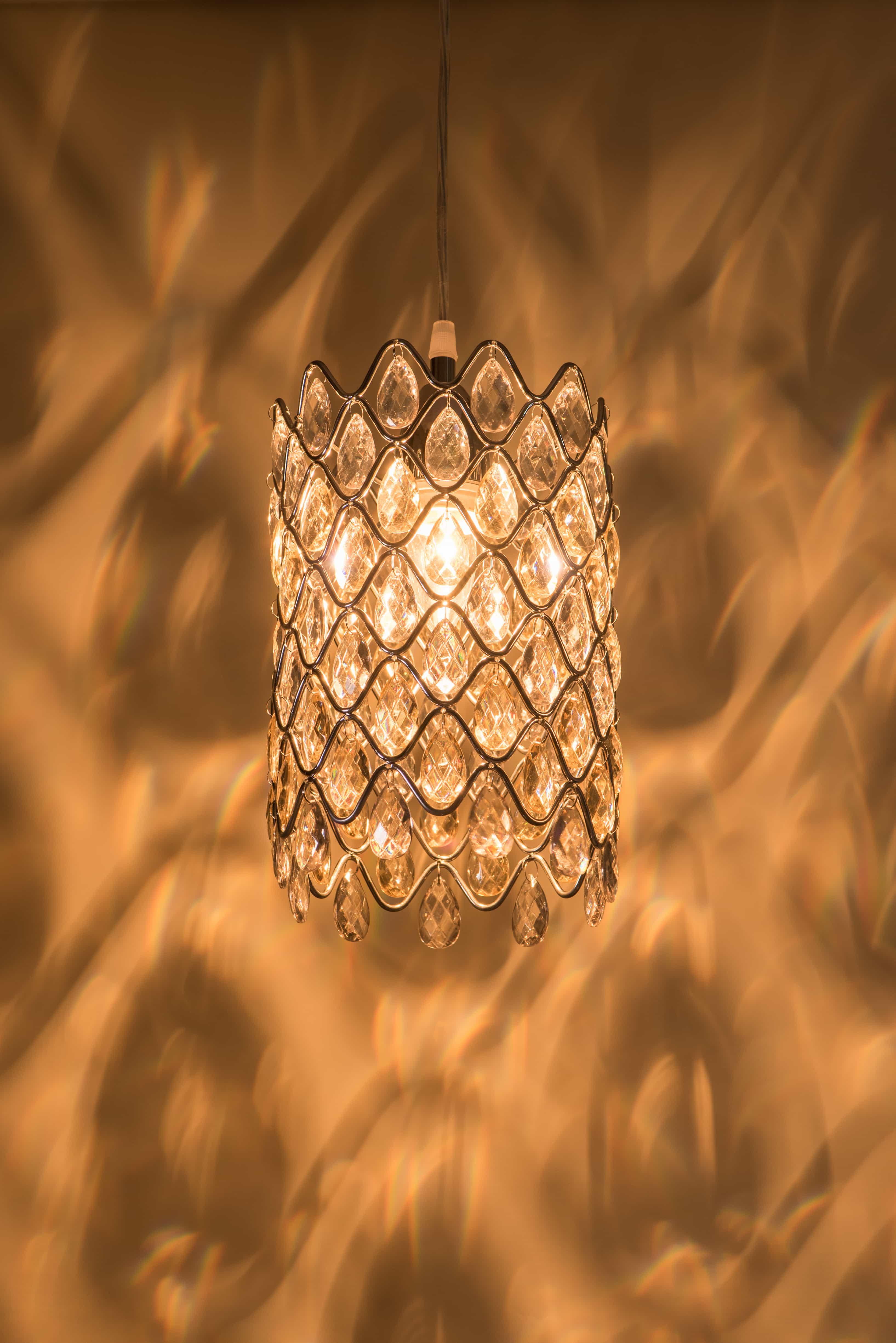 鍍鉻波浪紋壓克力珠吊燈-BNL00051 1