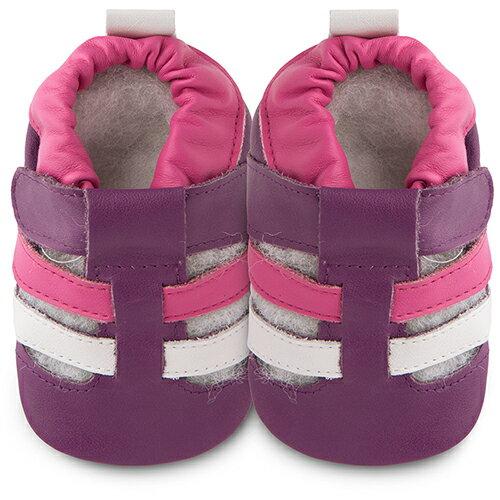 【hella 媽咪寶貝】英國 shooshoos 安全無毒真皮手工鞋/學步鞋/嬰兒鞋 粉紫涼鞋 102067 (公司貨)