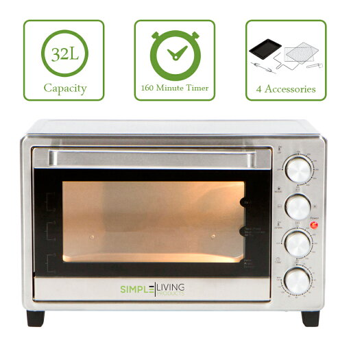 Simple Living Products SL-C32L XL 32L Convection Oven with Multiple Cooking Function