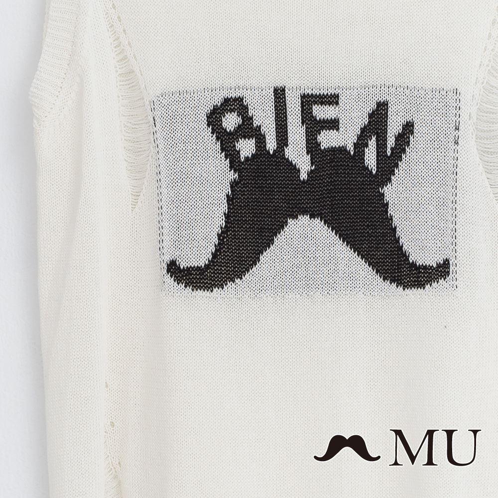 【MU】BINE鬍子針織破損感背心(2色)7324262 3