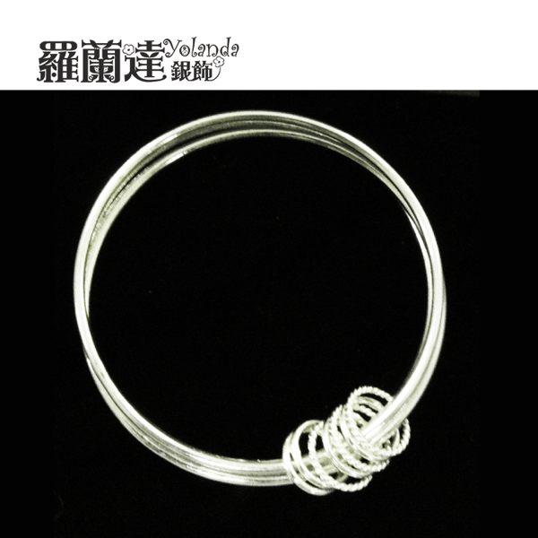~羅蘭達銀飾~大圈,小圈^~圈起對妳無限的愛^~ 美手環^~925純銀手環