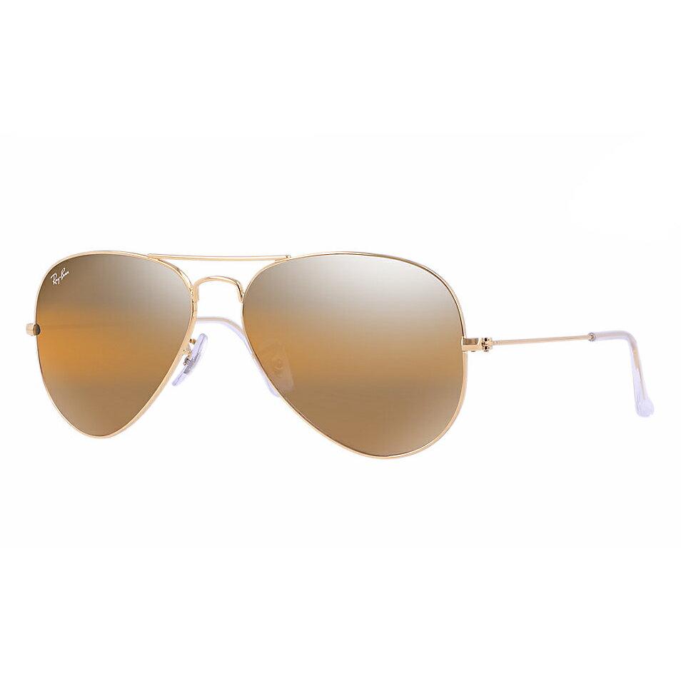 美國百分百【Rayban】雷朋 RB3025 太陽眼鏡 墨鏡 Aviator 飛行員 水銀 騎士 001/4F 金色