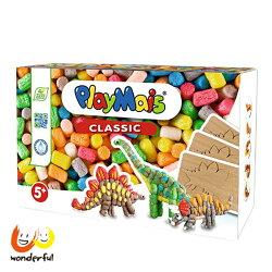 【獨家下殺9折】Playmais 玩玉米創意黏土趣味學習盒-恐龍世界 附4張恐龍圖卡 創意做腕龍暴龍