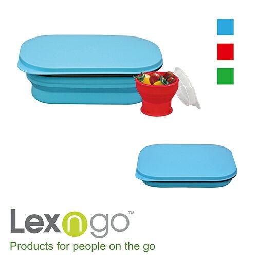 Lexngo可折疊午餐組~小 ^(藍 紅 綠^) ~  好康折扣