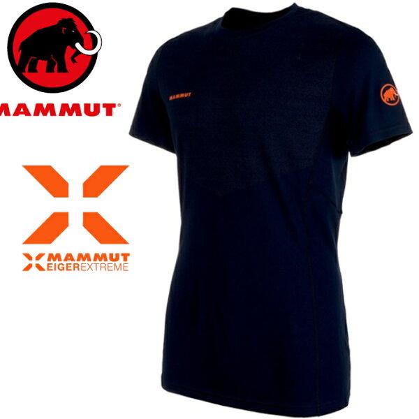 Mammut長毛象極限系列排汗衣登山運動圓領短袖T恤MoenchLtT-Shirt男款1017-000505924夜藍