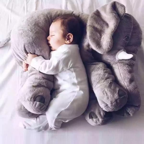 Plush Baby Soft Elephant Sleep Pillow Large Stuffed Animal Doll Kids Toys 3