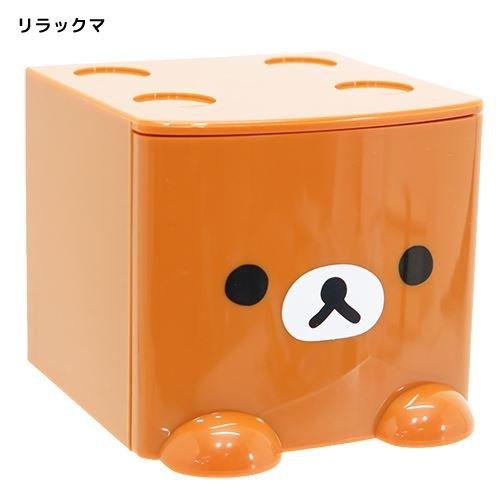 【真愛日本】17060600001 積木抽屜立體收納盒-懶熊大臉咖 SAN-X 奶妹 奶熊 拉拉熊 收納櫃 抽屜櫃