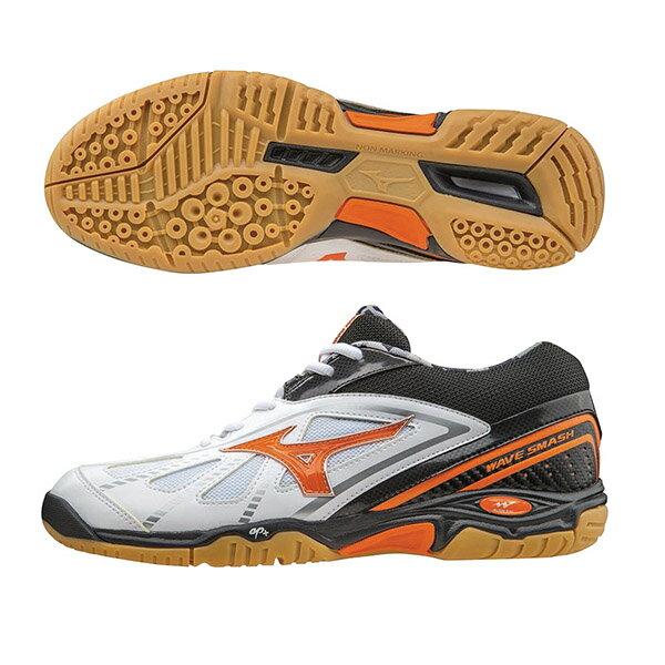 71GA166554(白X橘X黑)WAVE SMASH MID 中統高階羽球鞋 【美津濃MIZUNO】