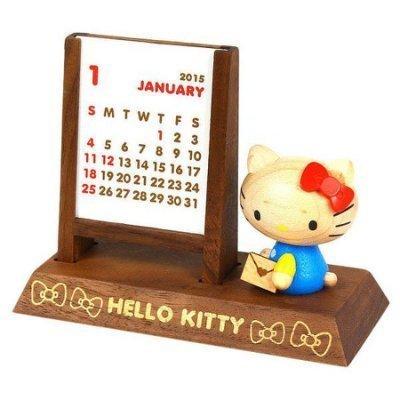 【真愛日本】14082900053年曆架-藍衣坐姿情書凱蒂貓kitty三麗鷗年曆架2015限定款收納架