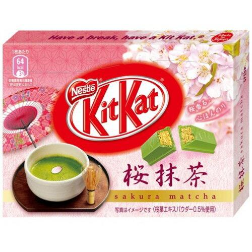 【限定發售】KitKat櫻花抹茶巧克力餅乾 3枚入??? ???????抹茶【建議選用低溫宅配】