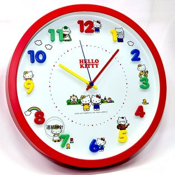 NOBA 不只是禮品:HelloKitty時鐘掛鐘靜音日本帶回正版商品