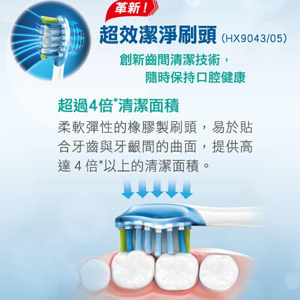 《搭贈除異味舌苔刷x1支》Philips Sonicare HX9043 /05 飛利浦 超效潔淨刷頭 (全系列電動牙刷通用)