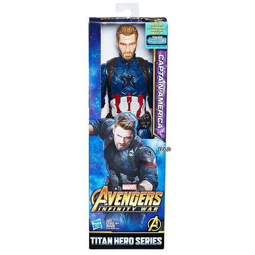 《復仇者聯盟‧無限之戰》12吋泰坦英雄人物-美國隊長