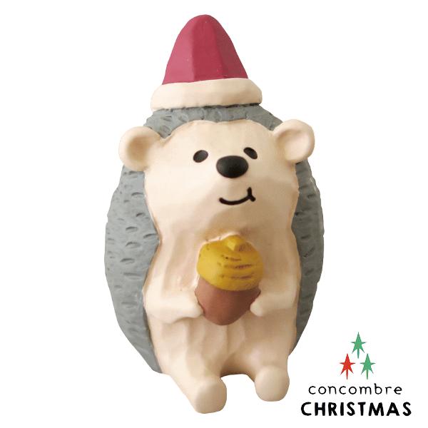 【聖誕節限定版】Decole 日本擺飾小玩偶 / 公仔 -  Concombre 吃松果的刺蝟 ( ZXS-48147 ) 現貨