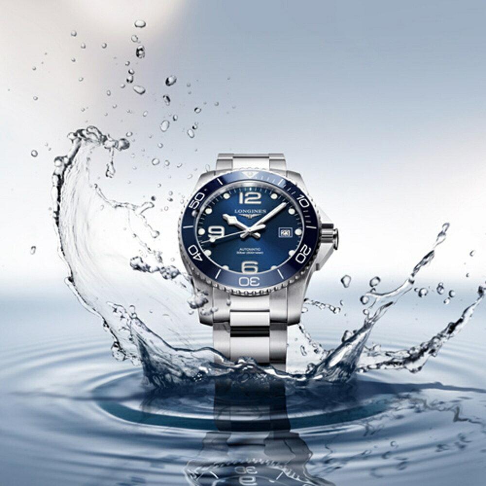 LONGINES浪琴深海征服者陶瓷框潛水機械錶 L37814966 藍
