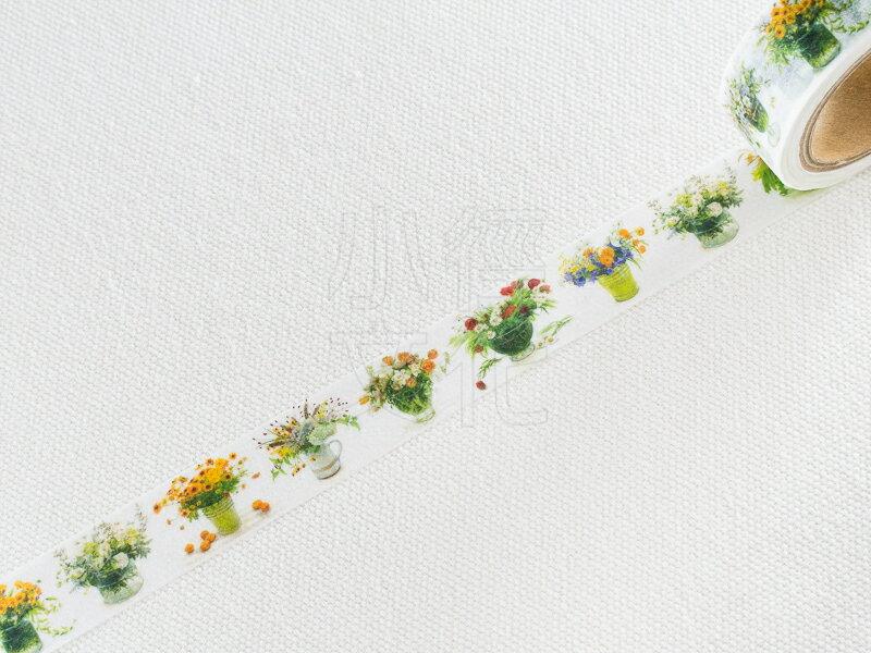 *小徑文化*日本進口 FRONTIA 橋本不二子 花卉插畫系列 - 花瓶之花 白與金黃 ( MSK-003 )